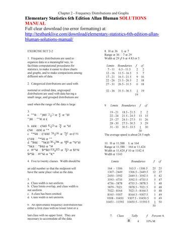 Elementary Statistics Bluman Solutions Manual One Word Quickstart