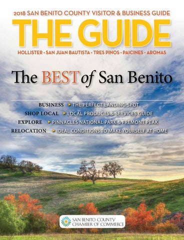 San Benito The Guide 2018 By Creative By Design Issuu