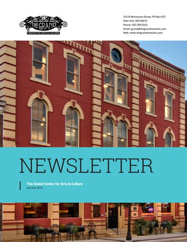 Halls life spring edition 2016 by sally day issuu the grand center for arts and culture january 2018 newsletter malvernweather Choice Image