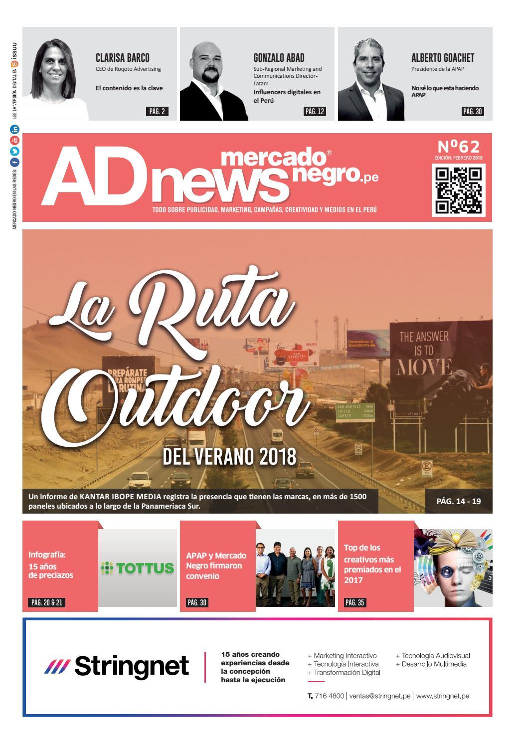 6df120b181 AD News 62 - Febrero 2018 by Mercado Negro Advertising - issuu