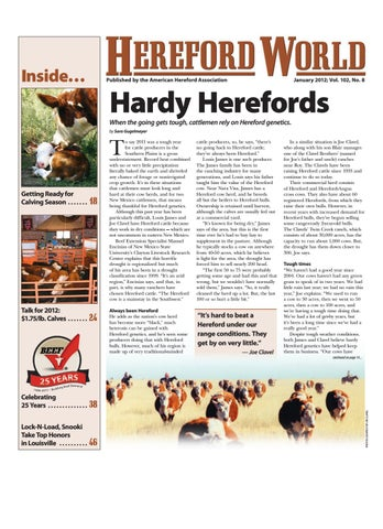 January 2012 Hereford World by American Hereford Association and ... d9f72ecbc744