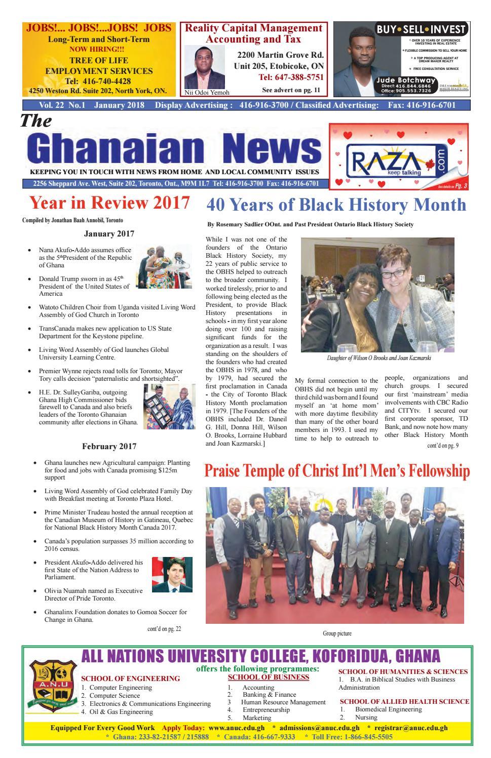 Nice Ghanaian News January 2018 By Roots Change   Issuu