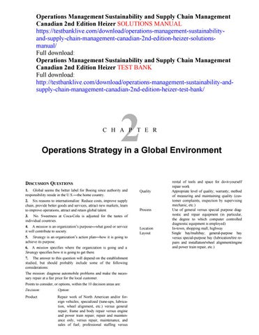 operations management sustainability and supply chain management rh issuu com operations and supply chain management solution manual operations and supply chain management solution manual