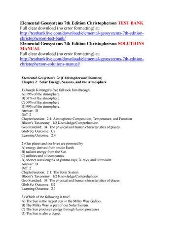 Pdf 7th elemental geosystems edition