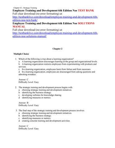 strategic training and development process