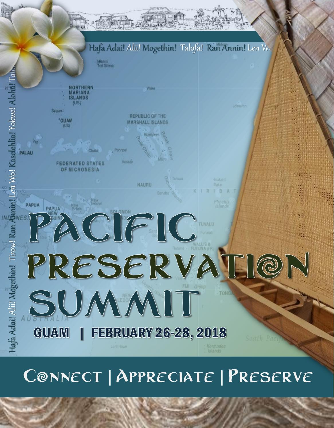 Pacific Preservation Summit 2018 Guam Program Booklet By Lawrence Borja Issuu