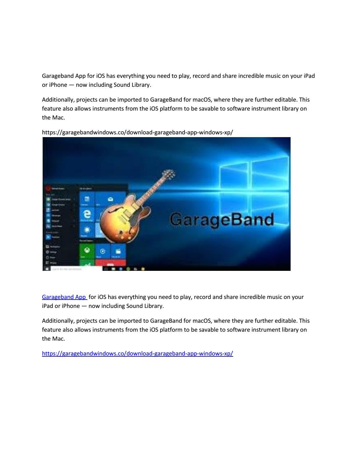 Garageband App By Dddfh Issuu