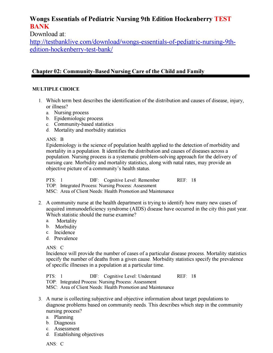 Wongs essentials of pediatric nursing 9th edition hockenberry test bank by  qlql111 - issuu