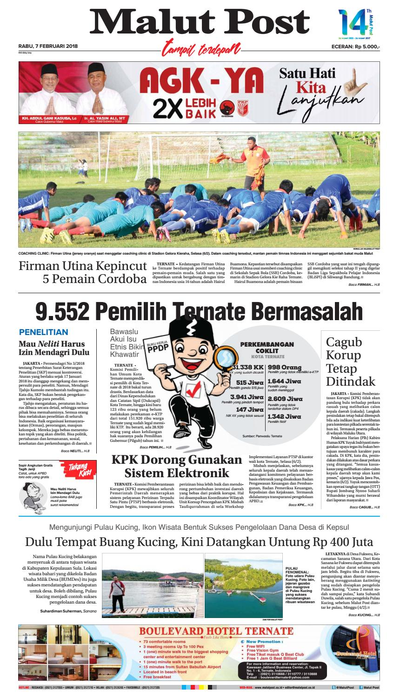 Malut Post 7 Februari 2018 By Issuu Produk Ukm Bumn Kue Sagu Ikan Haruan