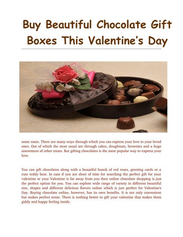 Buy Beautiful Chocolate Gift Boxes This Valentine S Day By Chocolak