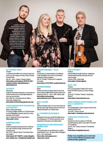Page 39 of What's On in the Arts / Jan Feb 2018