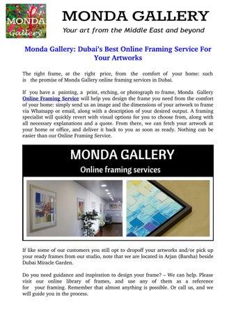 Monda gallery: dubai\'s best online framing service for your artworks ...
