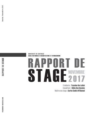 Rapport De Stage Yasmine Harzallah Enau By Yasmine Hz