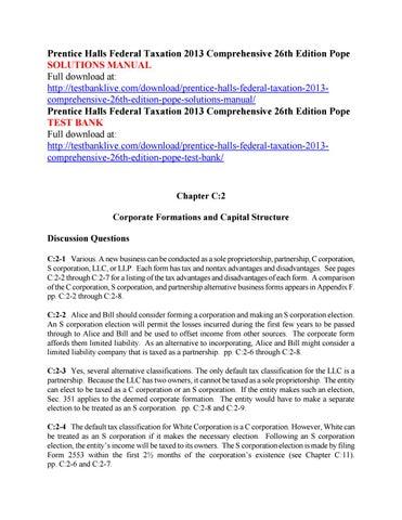 prentice halls federal taxation 2013 comprehensive 26th edition pope rh issuu com Flat Taxation Flat Taxation