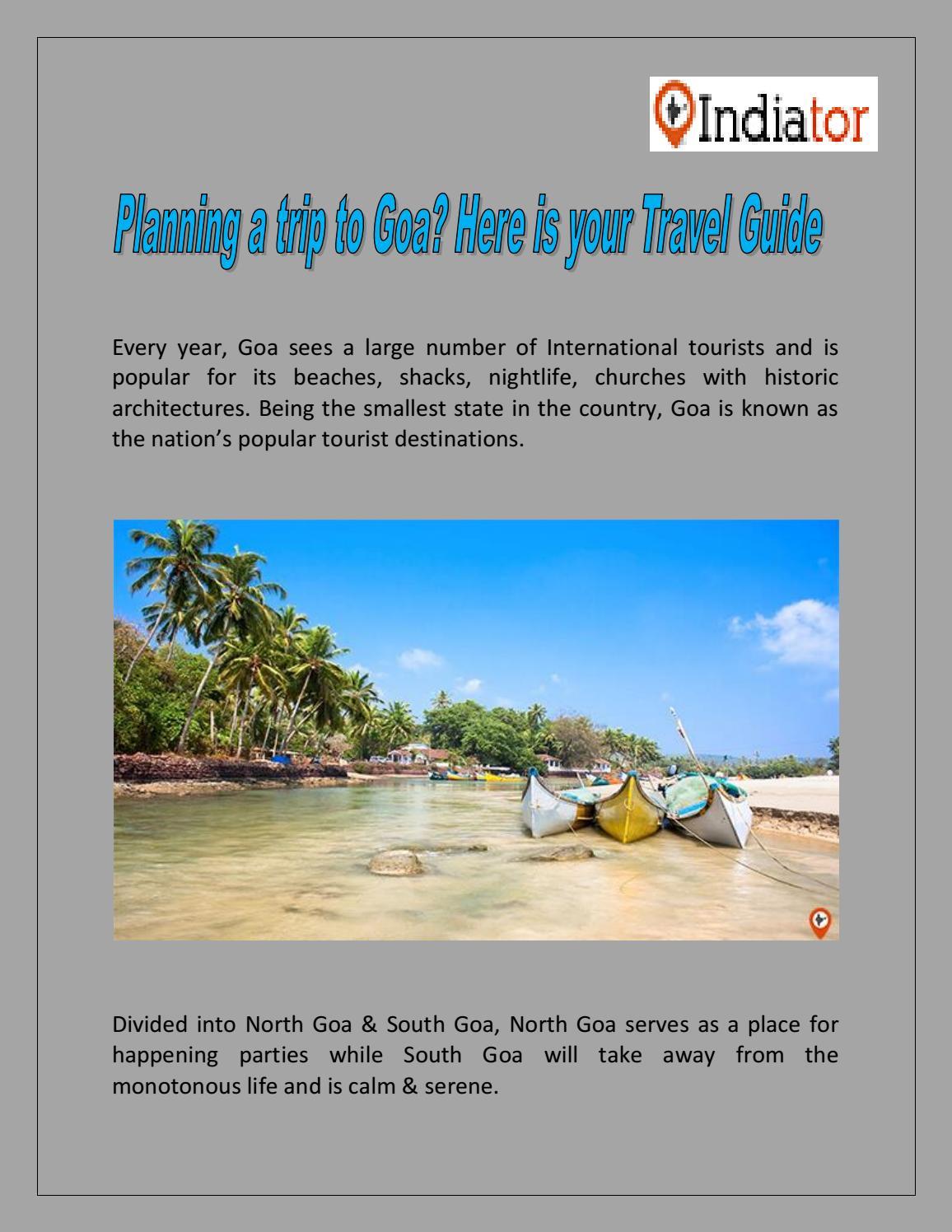 Goa tourism plan goa trip with goa travel guide.