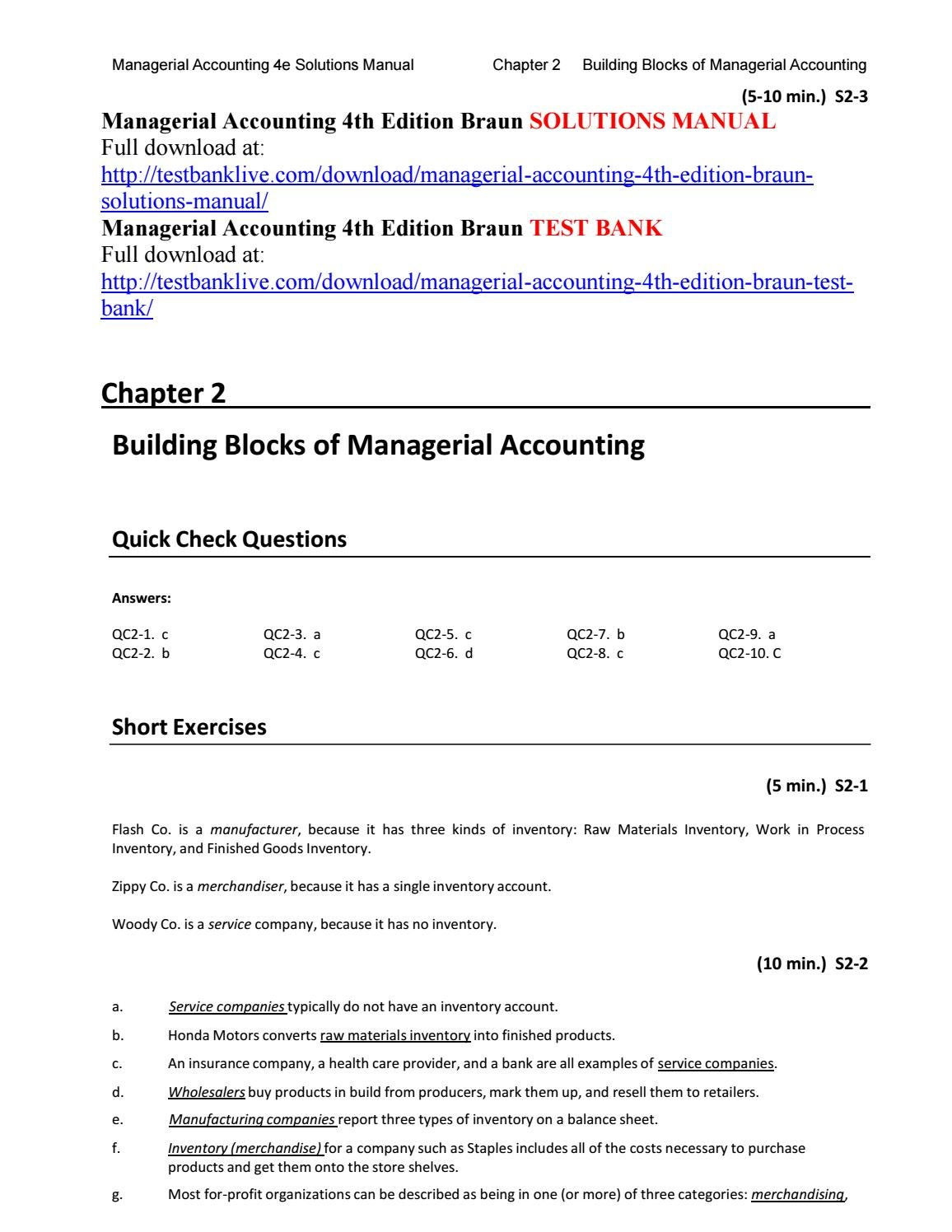 Managerial accounting 4th edition braun solutions manual by veque111 managerial accounting 4th edition braun solutions manual by veque111 issuu fandeluxe Image collections
