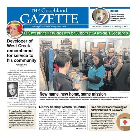 02 08 2018 By Goochland Gazette