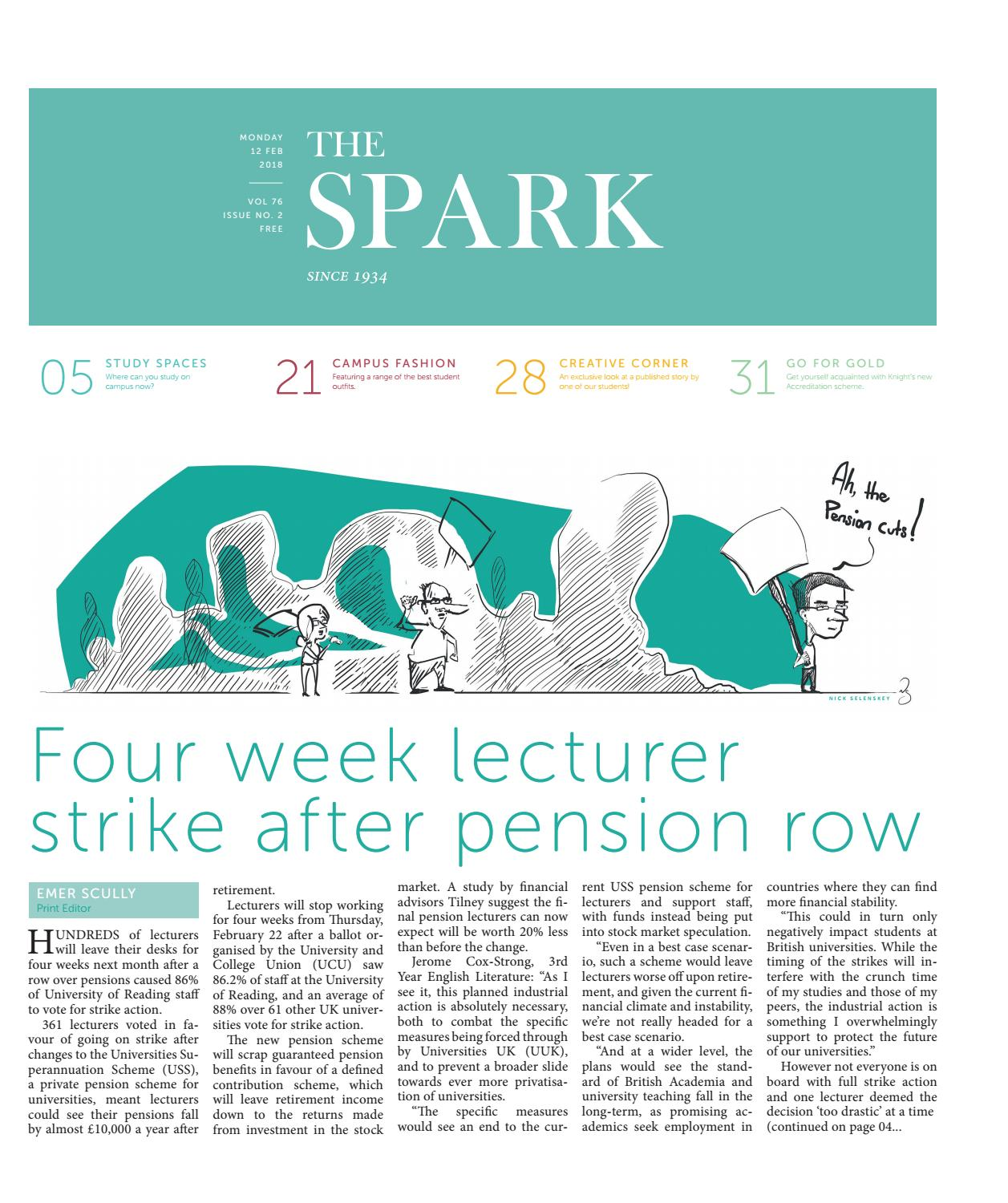 Four week lecturer strike after pension row February 2018