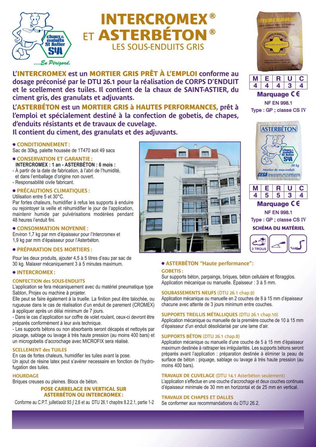 Epaisseur Enduit Sur Parpaing fiche-asterbetonbigmatfrance - issuu