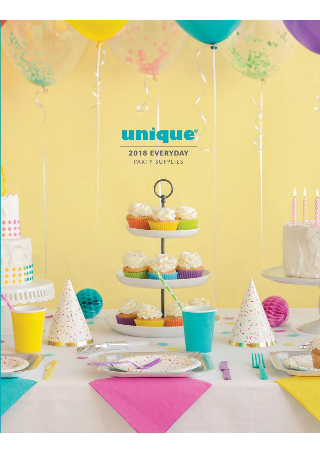 Unique Party 53988-18 Foil Black /& Gold Celebrate Balloon
