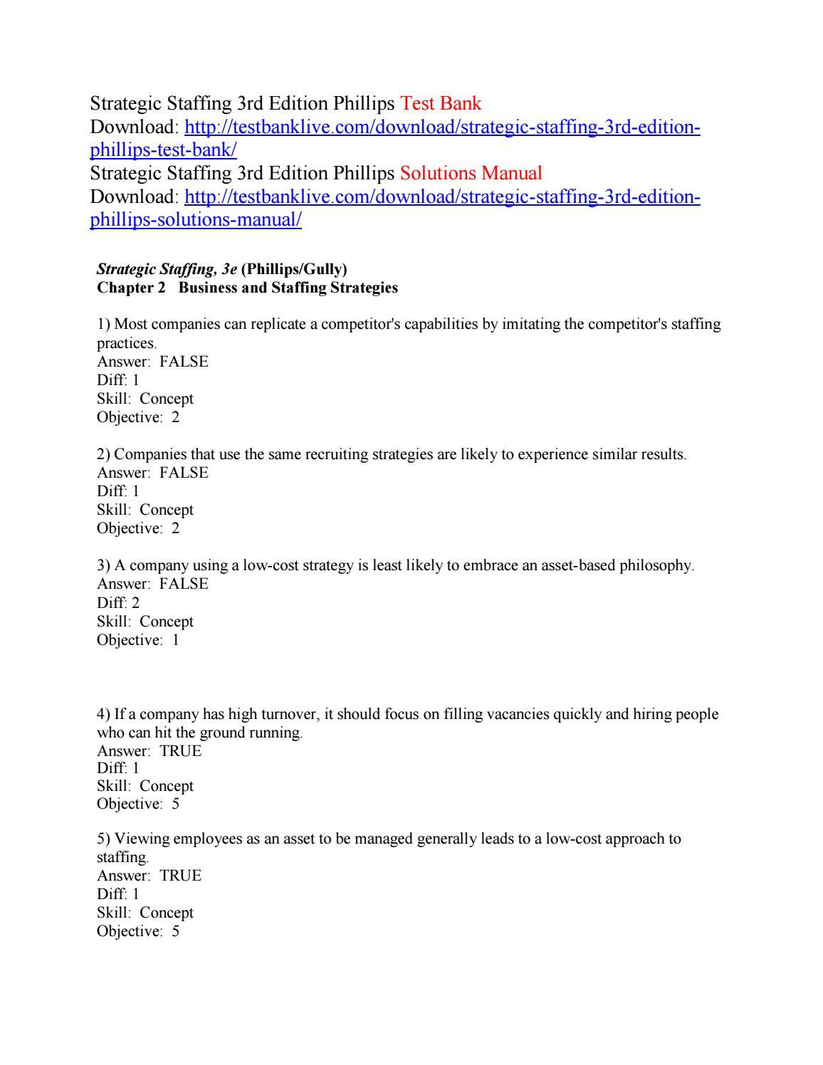 Strategic Staffing 3rd Edition Pdf