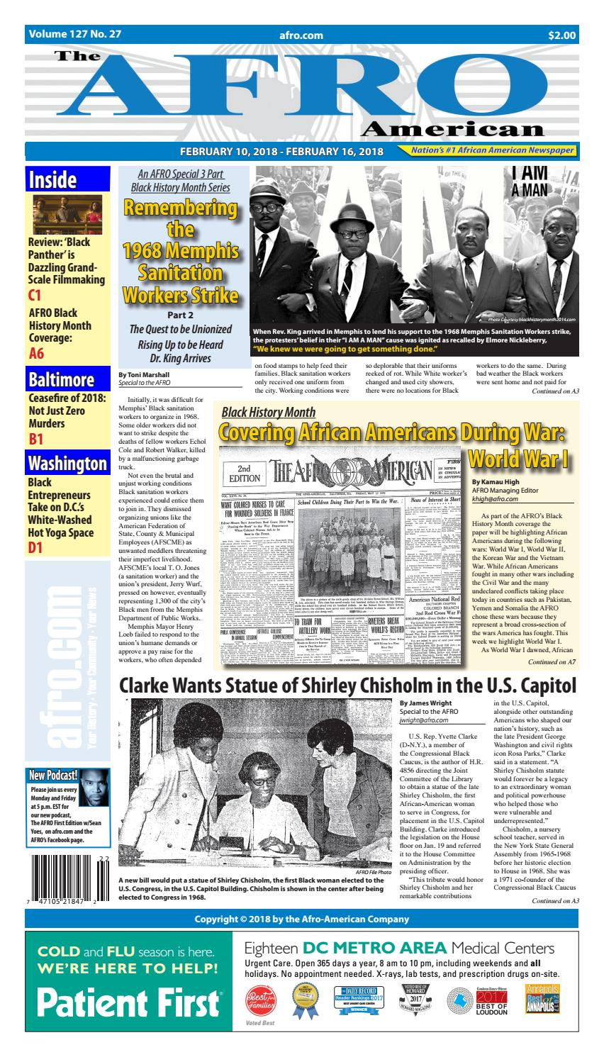 Baltimore Washington 2-9-2018 by The AFRO American - issuu