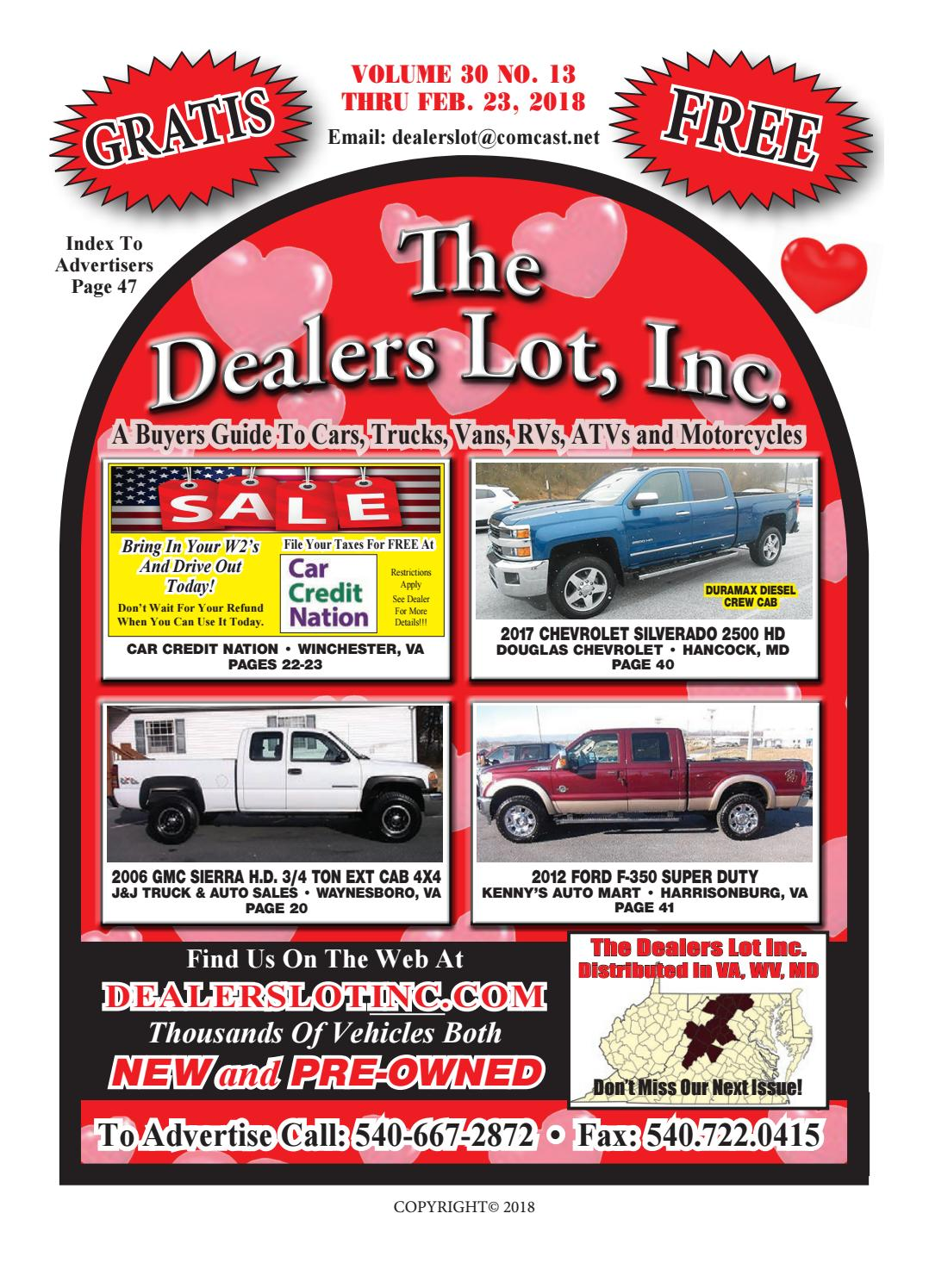 Virginia Auto Sales Tax >> 3013 Dealers Lot Pgs 1 48 C By The Dealers Lot Inc Issuu