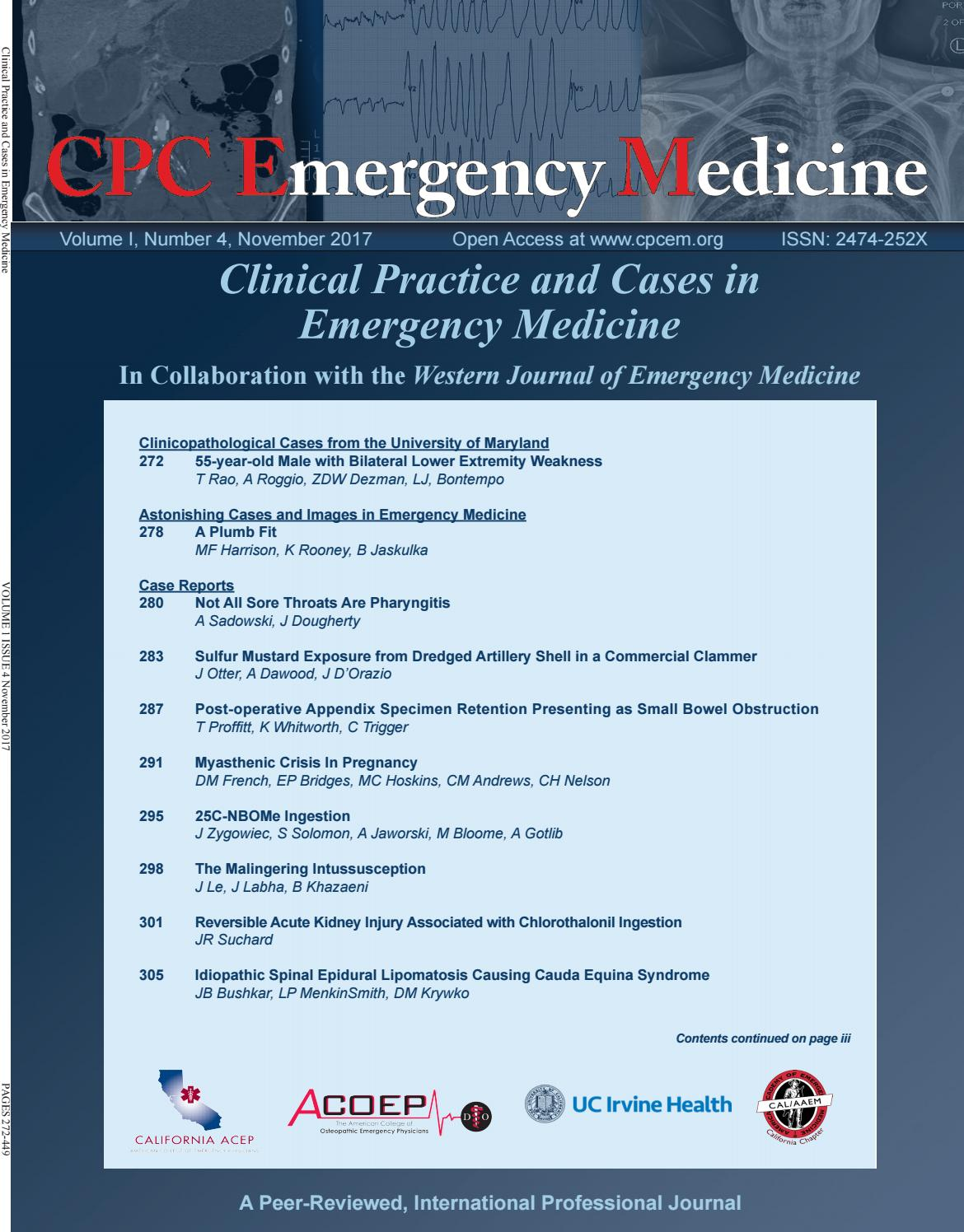 Clinical Practice and Cases in Emergency Medicine Volume 1 Issue 4