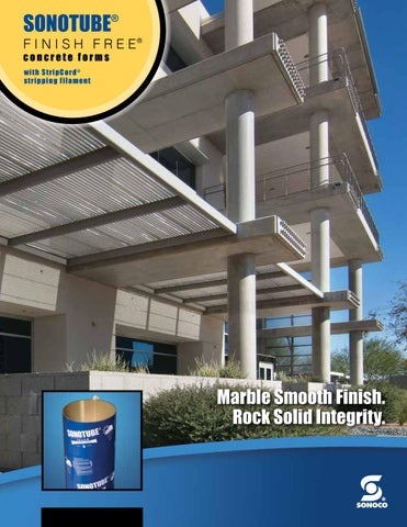 Sonotube® finish free® concrete forms product brochure by Ram Tool