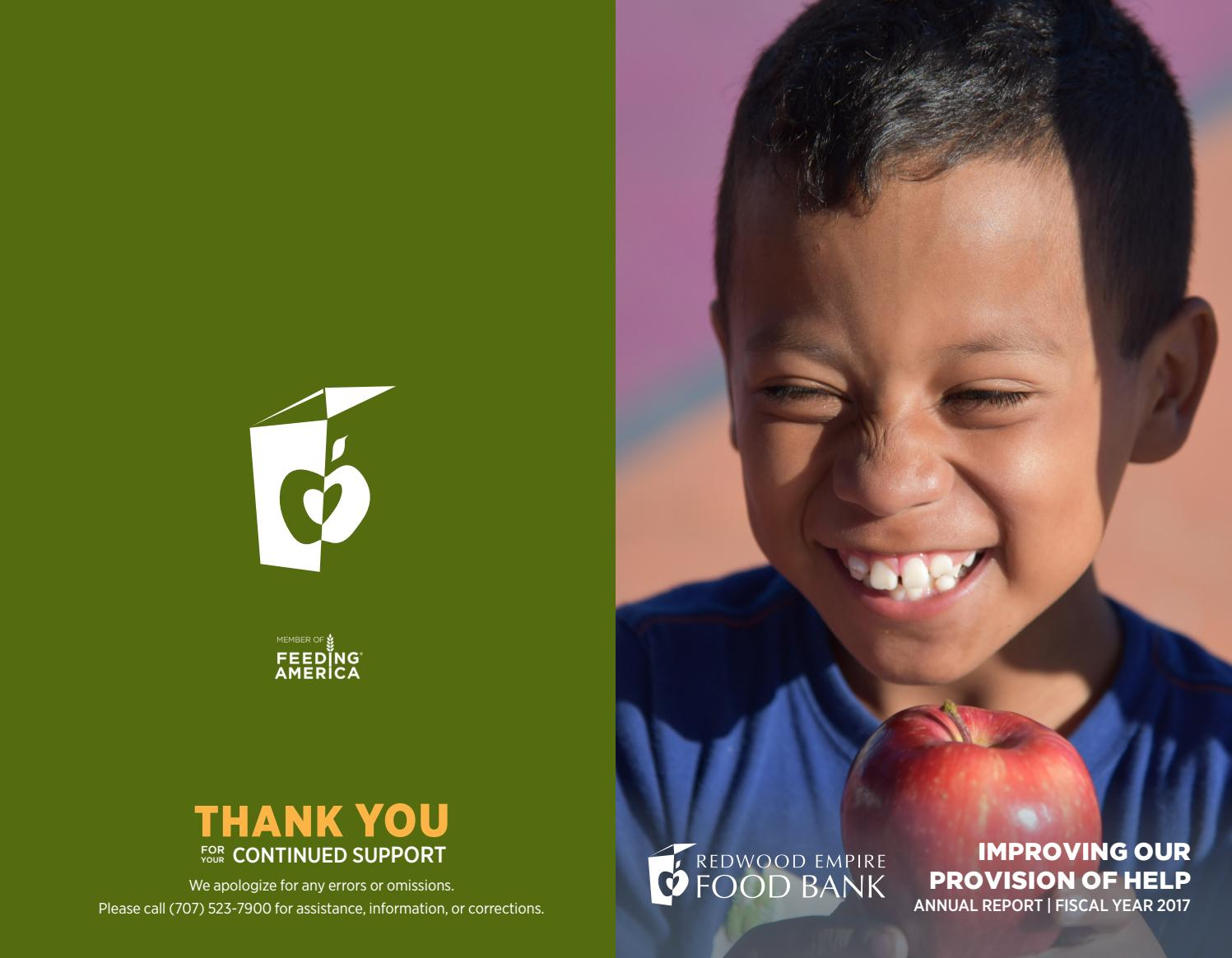 The Redwood Empire Food Banks Annual Report