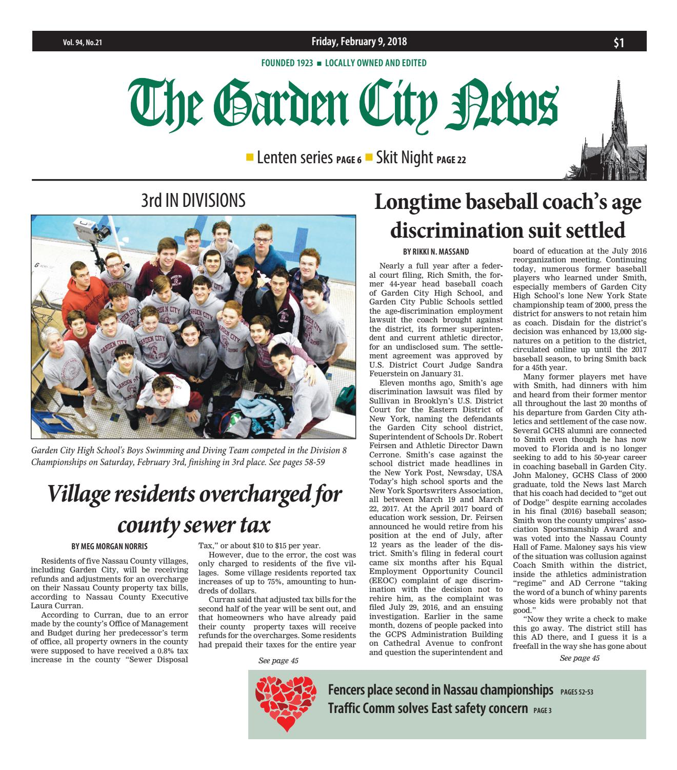 The Garden City News 2 9 18 By Litmor Publishing Issuu