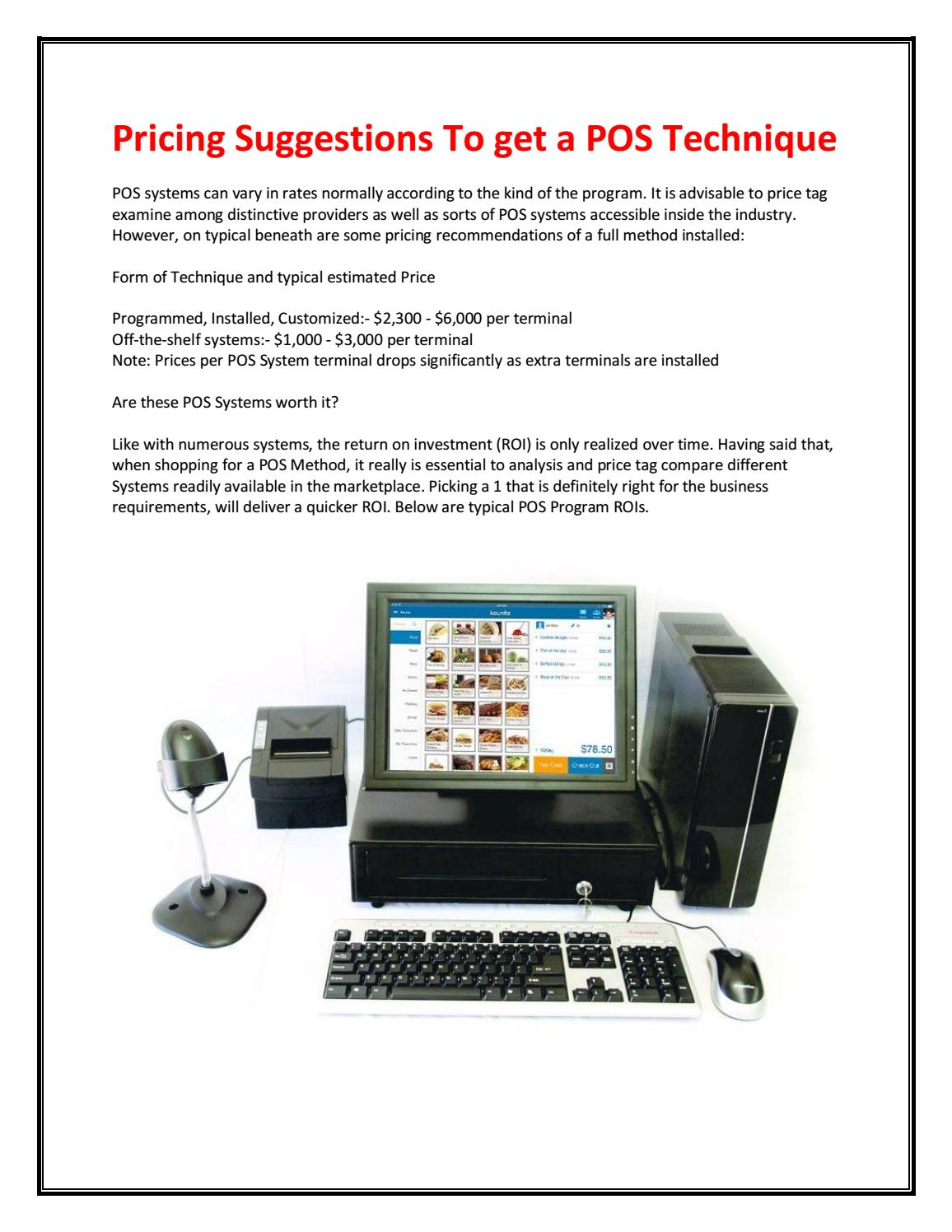 Pos systems by curtis78bugbee - issuu