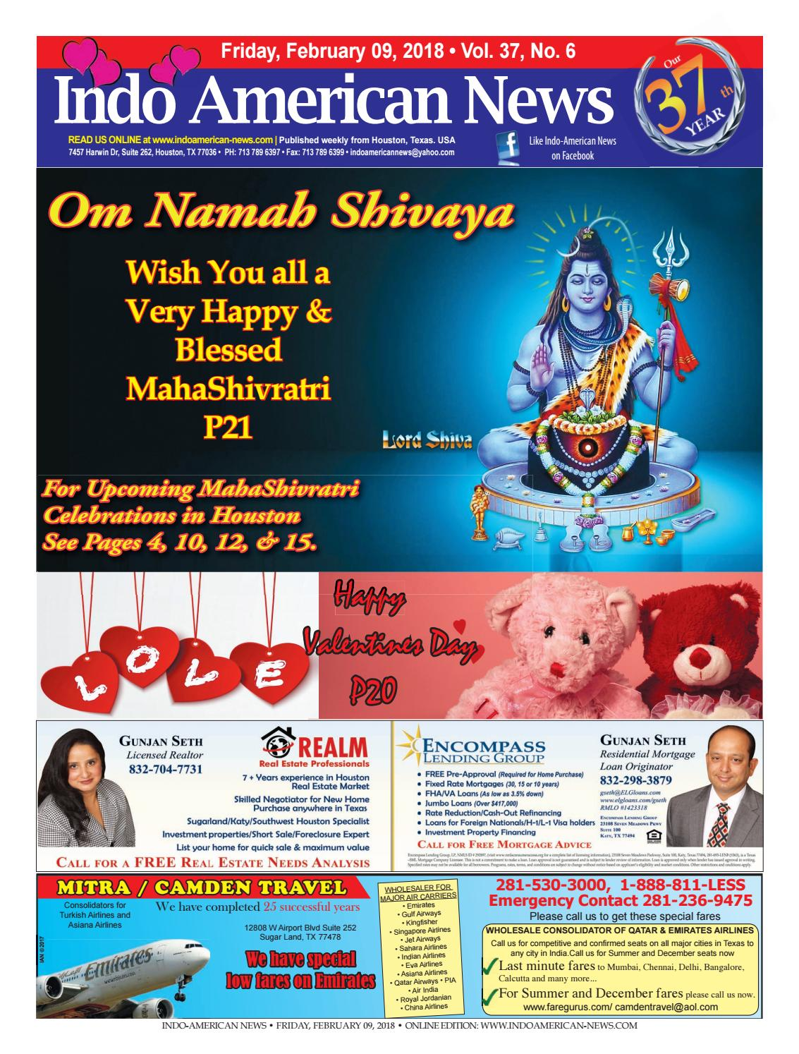 E newspaper02092018 by Indo American News - issuu