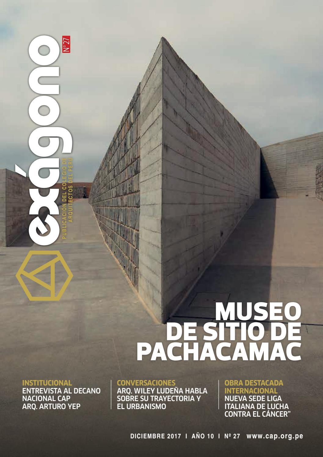 Revista Exagono By Colegio De Arquitectos Del Per Consejo  # Muebles Ludena Chimbote