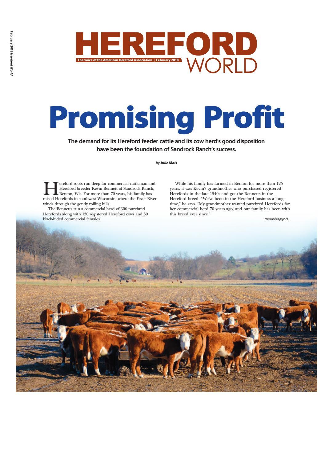 February 2018 Hereford World by American Hereford Association and Hereford  World - issuu