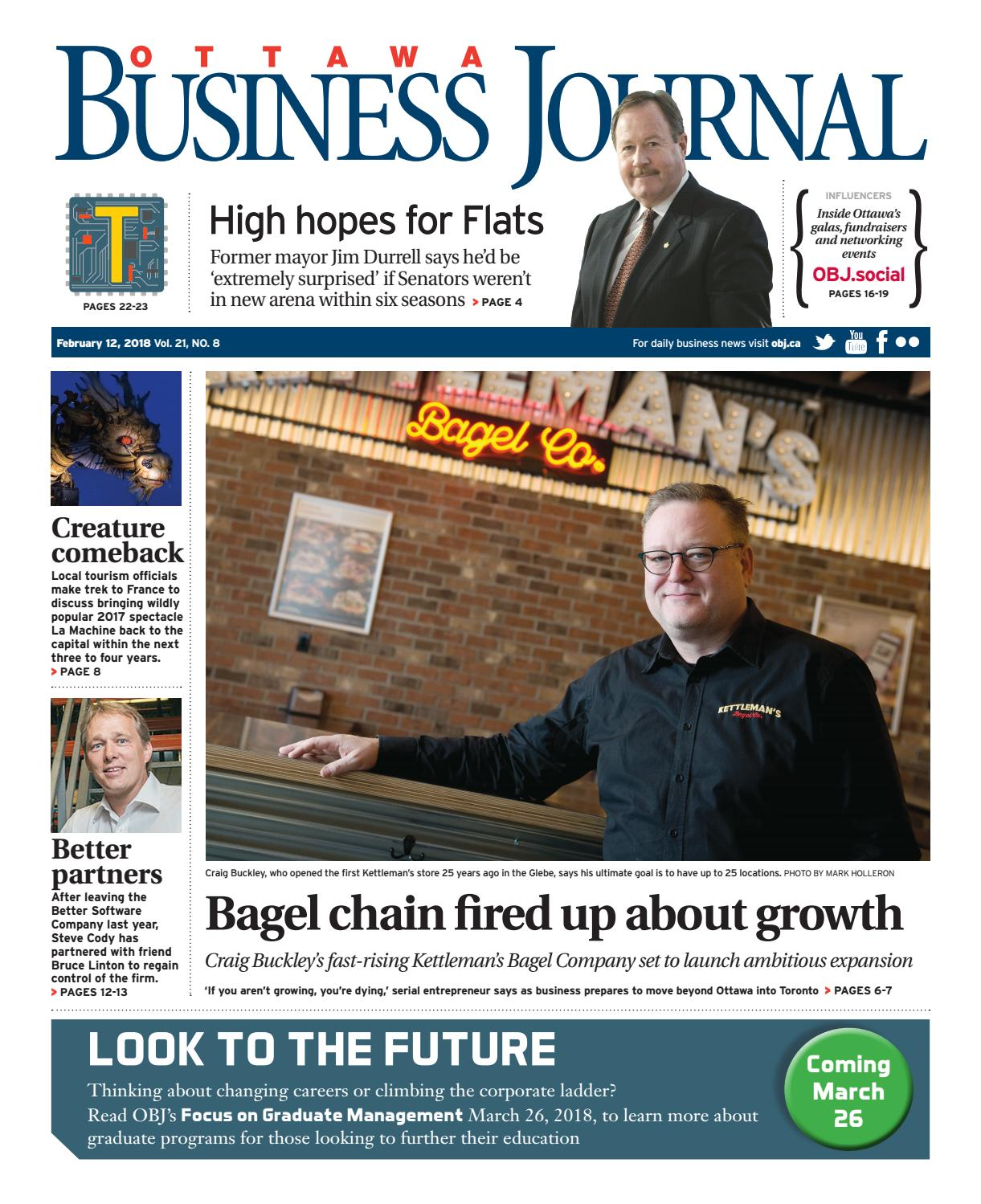 Ottawa Business Journal February 12, 2018 by Great River