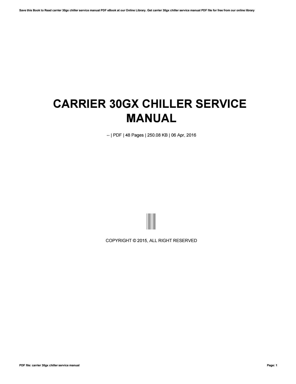 Carrier 30gx Chiller Service Manual By Maildx65