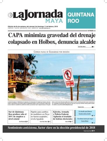 La jornada maya ·viernes 9 de febrero de 2018 by La Jornada Maya - issuu b08bb89ecaa
