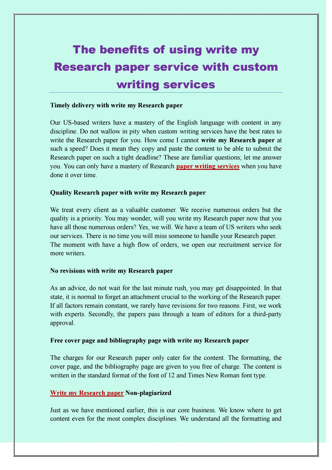 the benefits of using write my research paper service with custom  the benefits of using write my research paper service with custom writing  services by writink services  issuu