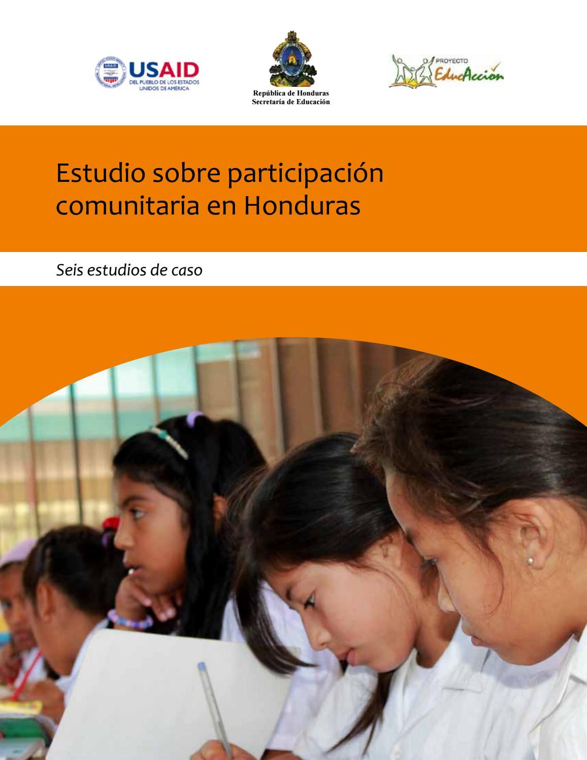 Estudio sobre participación comunitaria en educación en Honduras by ...