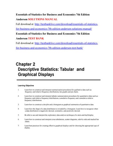 Essentials of statistics for business and economics 7th
