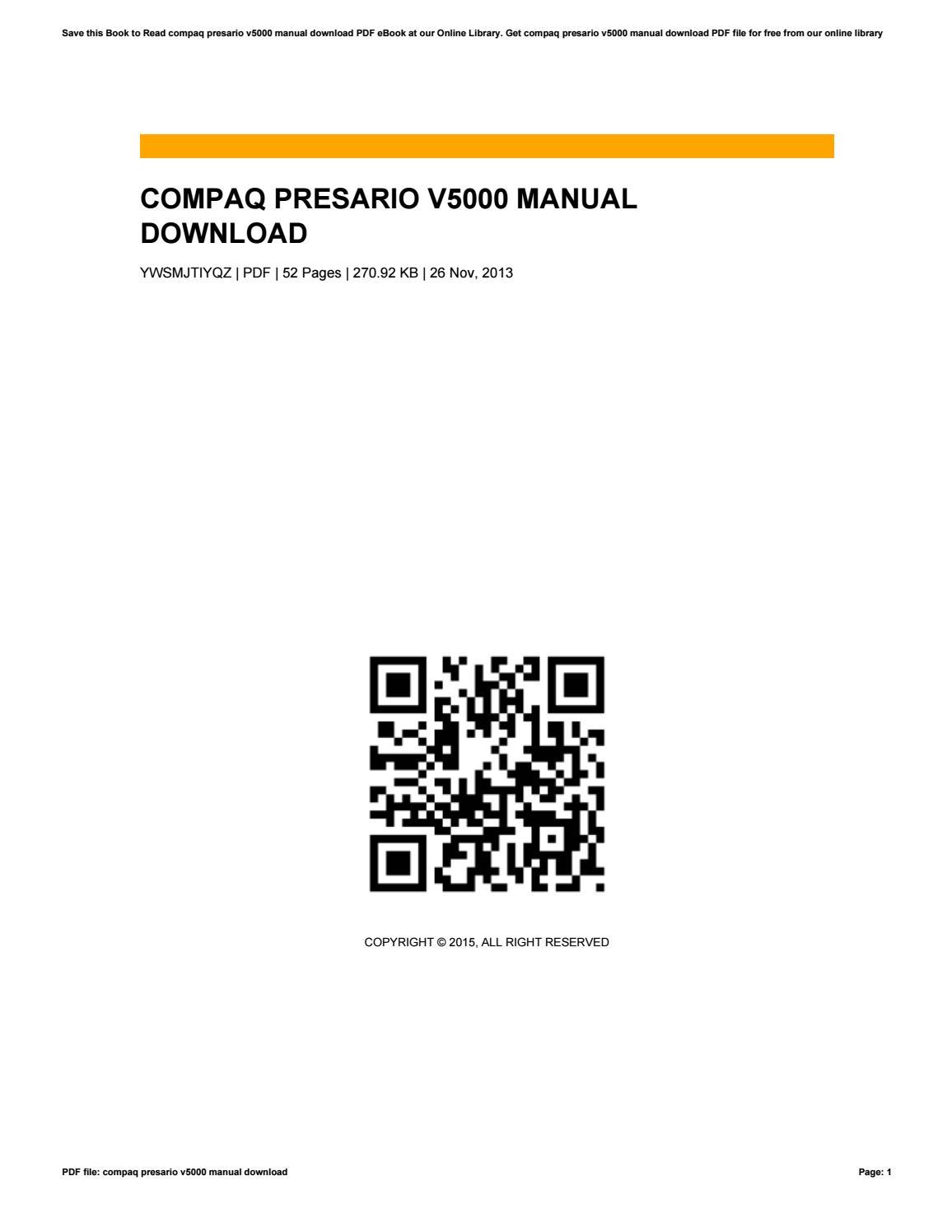 compaq presario v5000 drivers for windows 7 free download