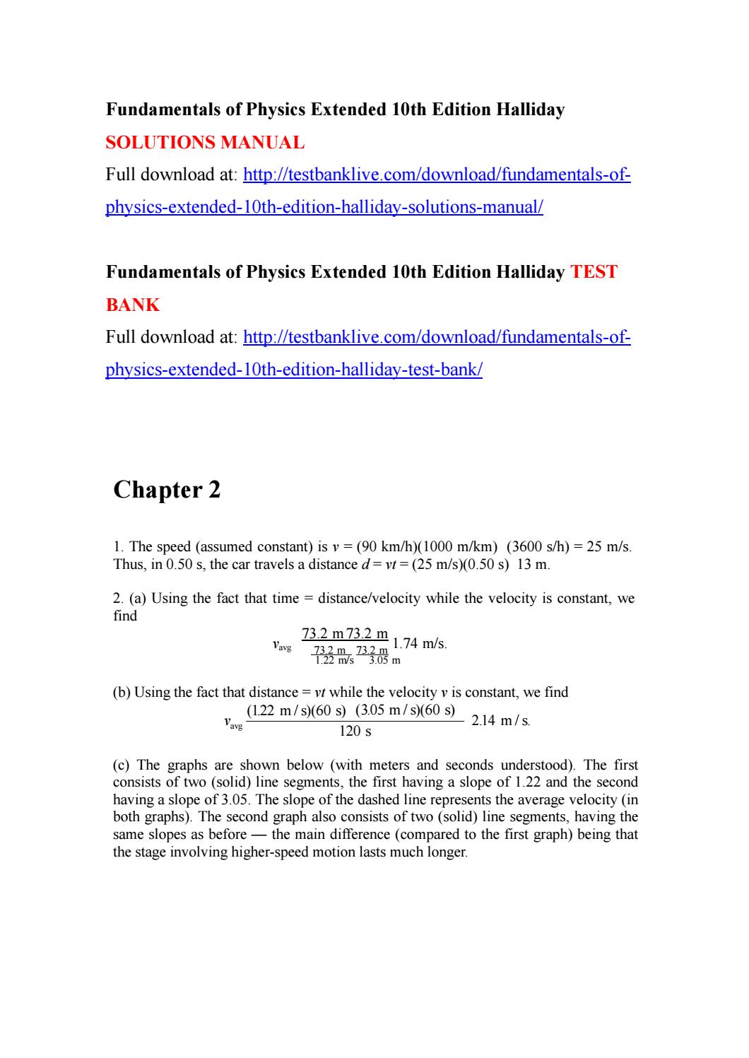 Fundamentals of physics extended 10th edition halliday solutions manual by  blatenny - issuu