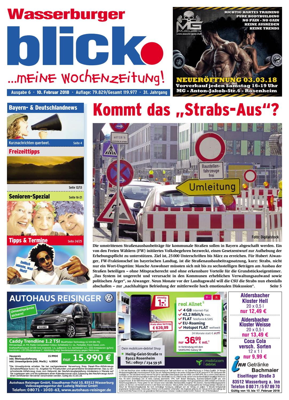 Wasserburger blick - Ausgabe 6 | 2018 by Blickpunkt Verlag - issuu