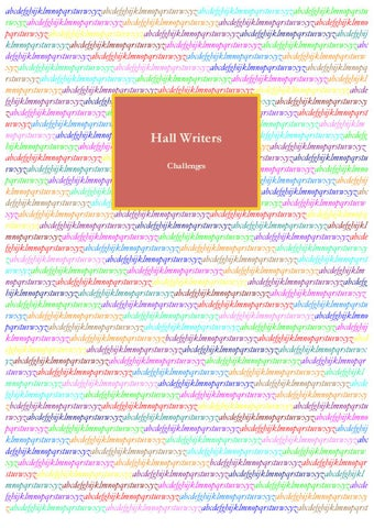 Challenges by Hall Writers