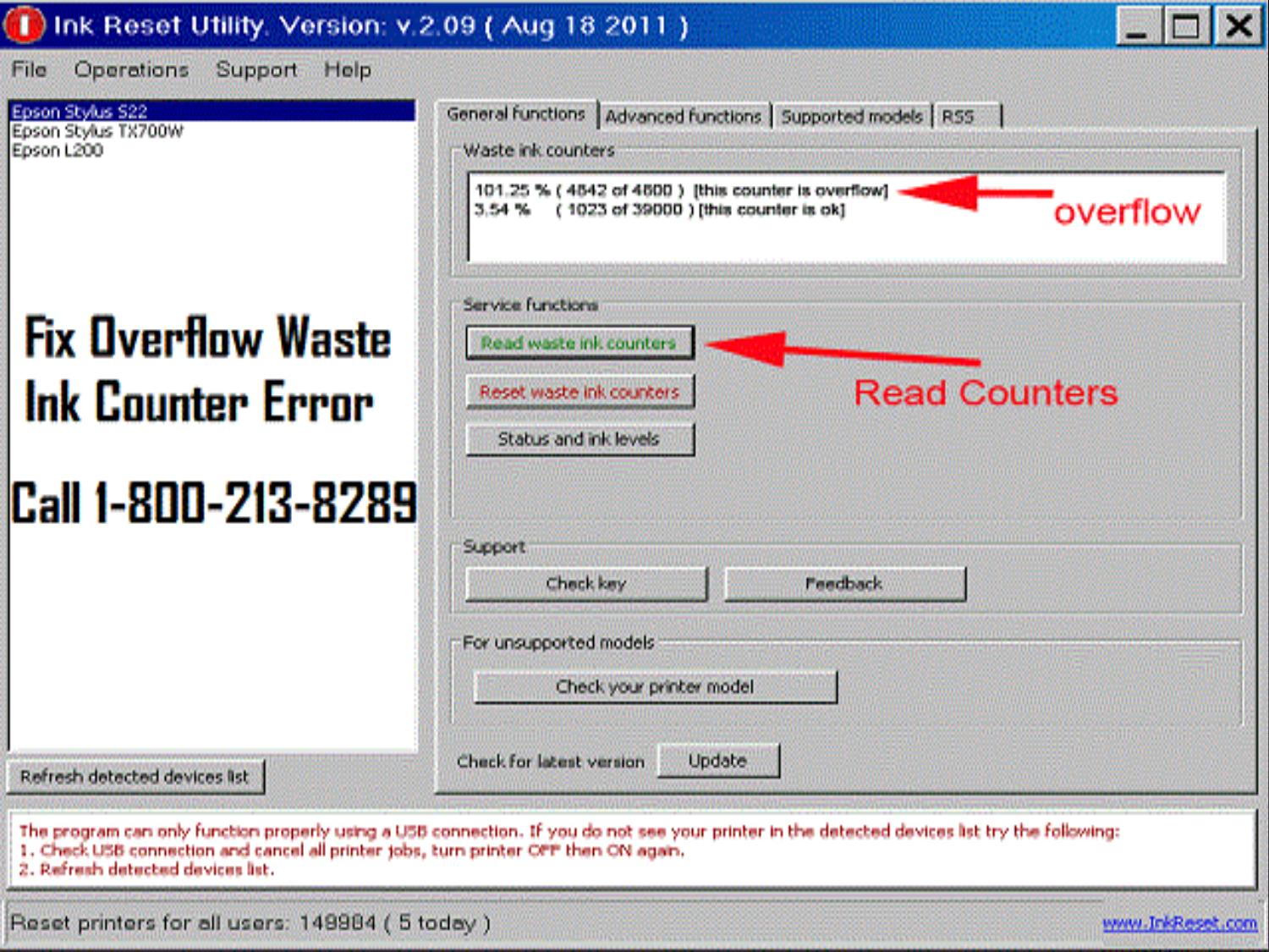 Fix overflow waste ink counter error by jacobmackwen - issuu