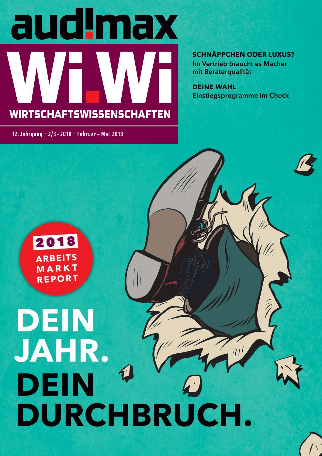 audimax Wi.Wi 2_3/2018 - Karrieremagazin für Wirtschaftswissenschaftler by  audimax MEDIEN - issuu