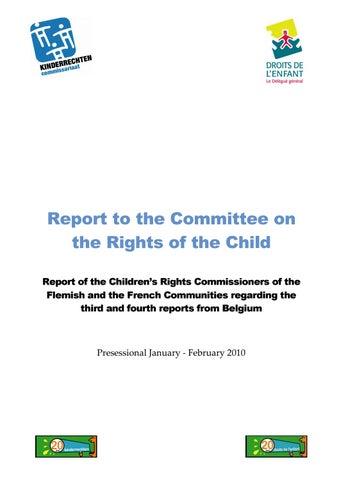 Top 5 Kinderrechten.Reportcrc Krc Dgde Pdf 2010 0 By Kinderrechten Vlaams
