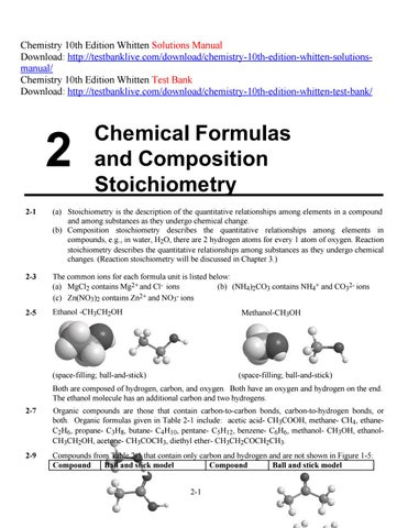 Chemistry 10th Edition Whitten Solutions Manual By EDzz Issuu