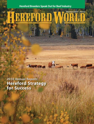 November 2010 Hereford World By American Hereford Association And